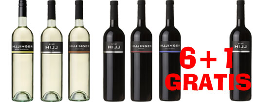 Hillinger Probierset  6 + 1 Flasche  Small Hill Red GRATIS