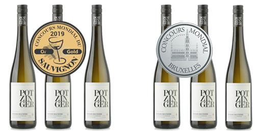 Potzinger Sieger Paket Consours Mondial Sauvignon Blanc 2019