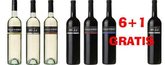 Hillinger Probierset 6+1 Flasche Small Hill Red GRATIS